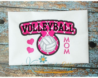 Volleyball Mom - Block Arc Applique