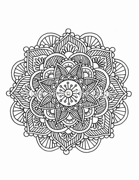 Items Similar To Mandala Coloring Page Mehndi Henna