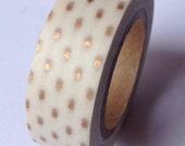 Mini Gold Dots Washi Tape (10M)