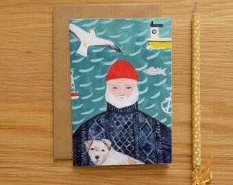 Illustrated Sea Dog Card