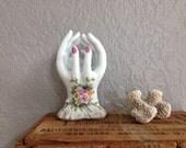 Vintage Lefton Porcelain Cupped Hands Vase