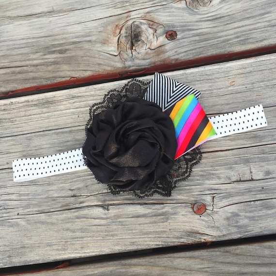 End of the Rainbow Can Can COLLECTION - Summer, Spring, Wedding, Baby Girl, Newborn, Photography Prop, Flower Headband
