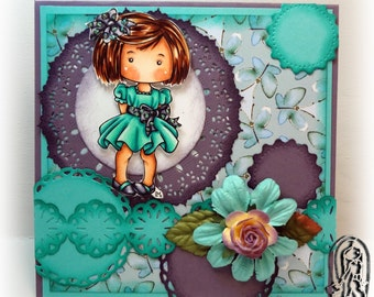 Handmade Original Greeting Card, Heidi