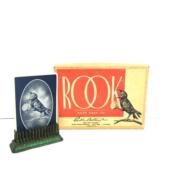 Vintage Card Game Rook Ephemera Birds By Twovagabondsvintage