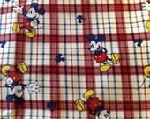 Fabric, Mickey Plaid