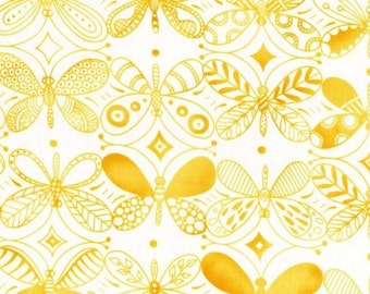 Pattern Dancers Yellow Fabric by Michael Miller