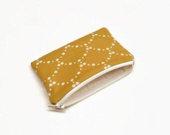 change purse coin purse zipper pouch zipper bag mustard shells