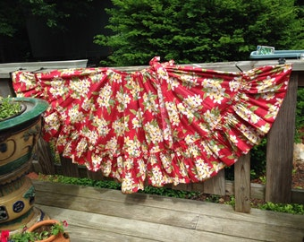 Get Your Island Costume Look on With This Gathered Ruffled Skirt Made in Puerto Rico
