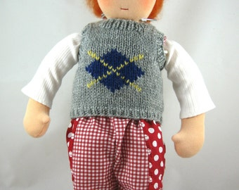 PREPPY- Knitted Vest for 15-16 Inch Dolls