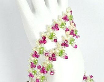 Forever Bouquet Garden Swarovski Crystal Bracelet and Necklace Set