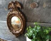 SALE Vintage Federalist Style Convex Mirror