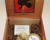 Indonesian Teak Scented Cigar Box Deluxe Shave/Shaving Set Kit - Acid Kuba Kuba
