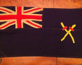 Rare WWII Canada Navy Ensign Flag RCASC For Small Ship&Landing Craft DDay Dieppe Great Piece of History