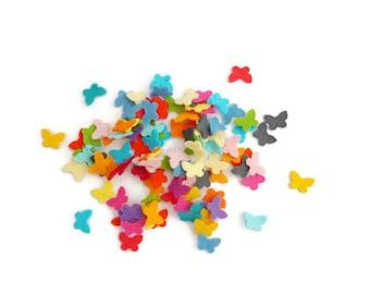 Felt shapes butterflies funfetti die cut felt butterfly felt pastel fabric small butterfly