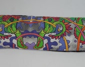 quetzalcoatl feathered serpent dream eye pillow beans and lavender monster style yoga meditation eye mask snake feathers