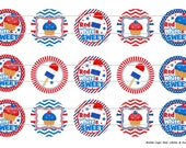 "Red, White, and Sweet 1 Images Digital Download for 1"" Bottle Caps (4x6)"