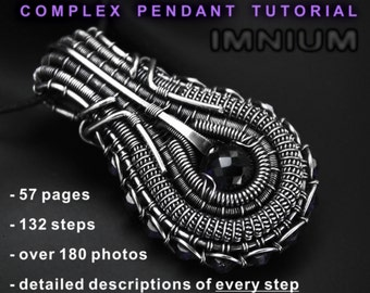 Complex wire wrapped pendant tutorial - no soldering needed, detailed step by step instructions on every single detail of the pendant. DIY