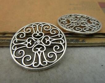 20pcs 28mm Antique Bronze  Heart Charm Pendant Necklace pendants, Jewelry pendants,necklaces, bracelets charms