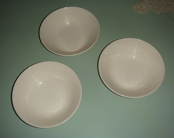 Vintage Johnson Brothers Ironstone Athena Cereal Bowls Set of 3