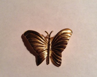 Vintage Romantic Butterfly Brooch