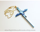 MADE to ORDER Umi's Escudo Blade Necklace Inspired Fanart Magic Knight Rayearth Sword for Magical Girl Mahou Kei Kawaii Fashion