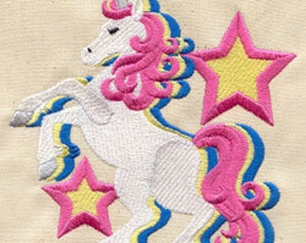 Magic Unicorn Embroidered Flour Sack Hand/Dish Towel