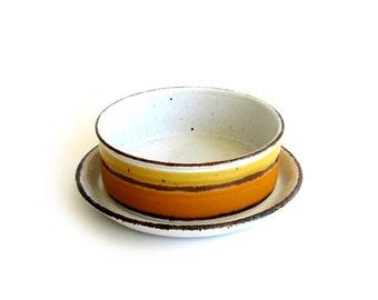 Vintage Midwinter Stonehenge Sun Oatmeal Bowls Mod Eva Midwinter Wedgwood