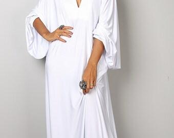 White Dress - Maxi Dress - Funky White Summer Dress: Funky Elegant Collection no.2