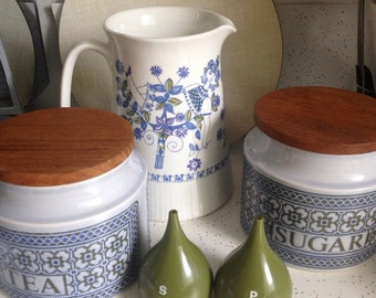 Hornsea tapestry canisters tea coffee and sugar