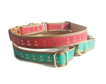 Nautical Martingale Dog Collar, sailing collars