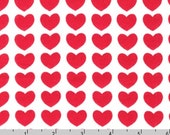 Remix KNIT - Hearts Red by Ann Kelle - 58 Inch Wide from Robert Kaufman