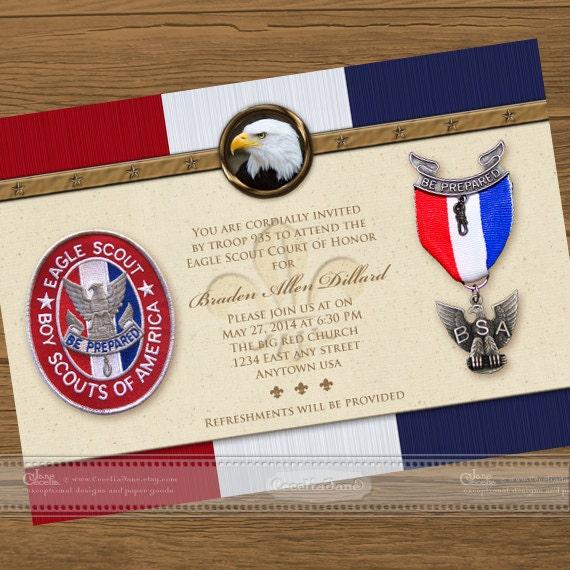 eagle scout court of honor invitations eagle scout eagle court