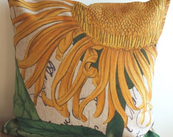 Home Decor Pillow - Sunflower - 18 x 18 - Cottage Style - Country Living - Sunflower Pillow