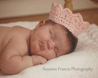 MADE TO ORDER- Tiara-Newborn photo prop-Newborn Crown-Baby girl Photo Prop- Princess Crown- Headband