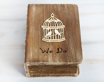 Wedding Card Box Rustic Card Box Wooden Keepsake Box, Customisable Card Box, Memory box, Wedding cards, love letters