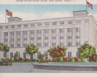Fort Worth, Texas, Court House - Vintage Postcard -  Postcard - Unused (FFF)