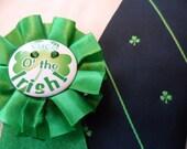 Tie, St Patricks Day green shamrock
