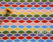 Crochet Pattern - A Million Diamonds Blanket (Pattern No. 066) - Pattern With Detailed Step-By-Step Photos - INSTANT DIGITAL DOWNLOAD