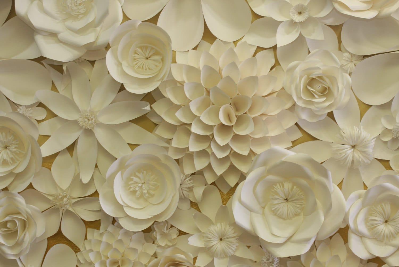 paper flowers backdrop 4x8ft  wedding flower by