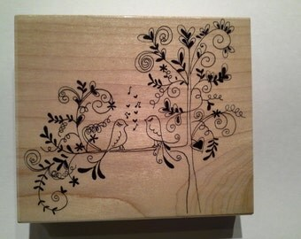 Penny Black Wood Mounted Rubber Stamp -  Love Song