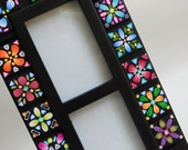 Mosaic Picture Frame, polymer clay tile photo frame