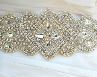 SALE TRAECY Wedding bridal crystal sash , belt