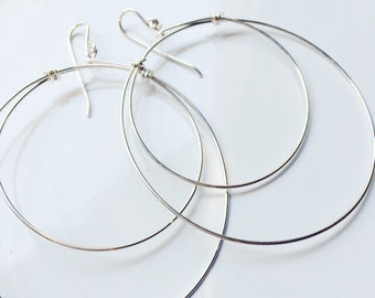Sterling Silver Hoop Earrings Simple Silver Earrings Hoop Earrings Simple Earrings Everyday Earrings Silver Hoop