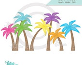 Palm Tree Clipart, Palm Tree Clip Art, Digital Palm Tree, Palm Tree Download