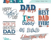 Father's Day Word Art, Dad Word Art, Daddy Clipart, Daddy Wordart