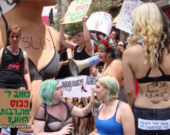 Slutty Jerusalem Postcard
