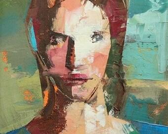 """Riley"""" Original oil portrait on canvas 6"""" x 8""""(15.2cm x 20.3cm)"""