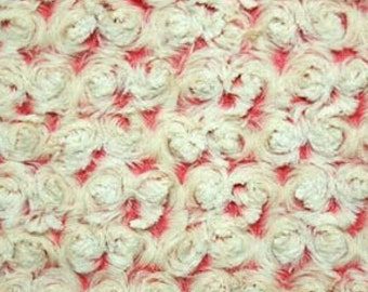 Coral frosted rose cuddle fabric by Shannon Fabrics Inc.