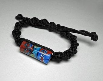 Glass Bead Macrame Bracelet