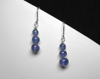 Tanzanite Earrings in Silver